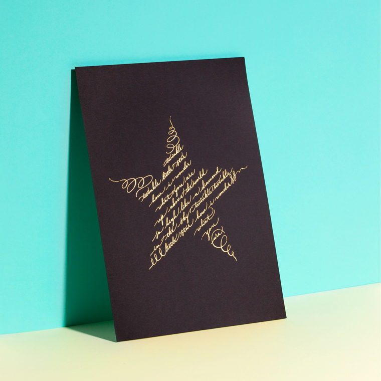 twinkle twinkle little star print gift nursery rhyme baby shower newborn