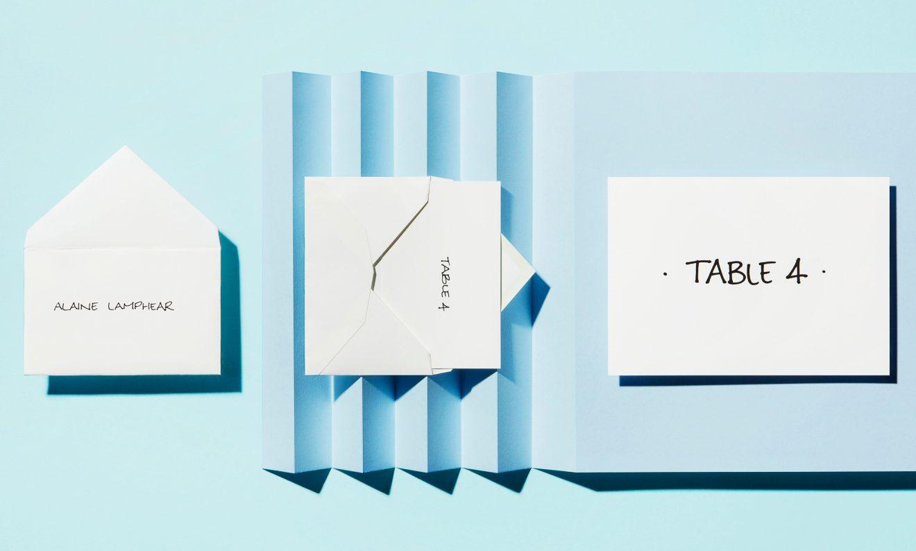 <span class='caption'><span class='caption-title'>Mini Placement Envelope, Escort Card &amp; Table Signage</span></br> Black Fineliner &amp; Promarker Pens</br> Calligraphy Style 8</span>