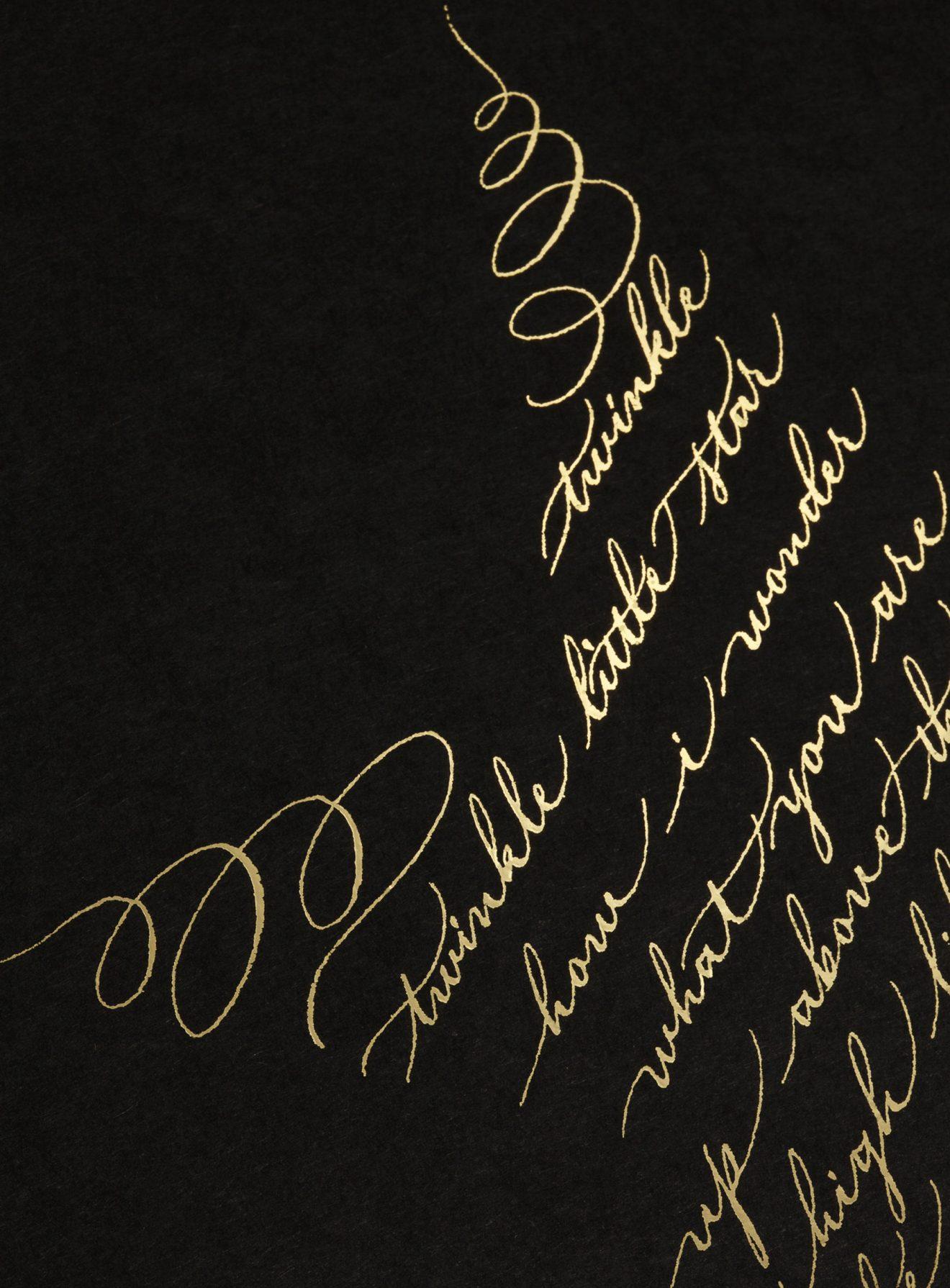 twinkle twinkle little star calligraphy print